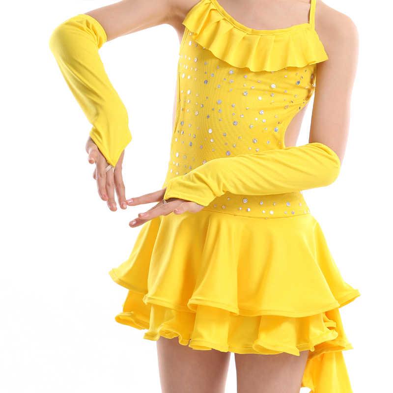 Платье для латинских танцев для девочек, модные Бальные платья для детей, Одежда для танцев, Детские сценические костюмы