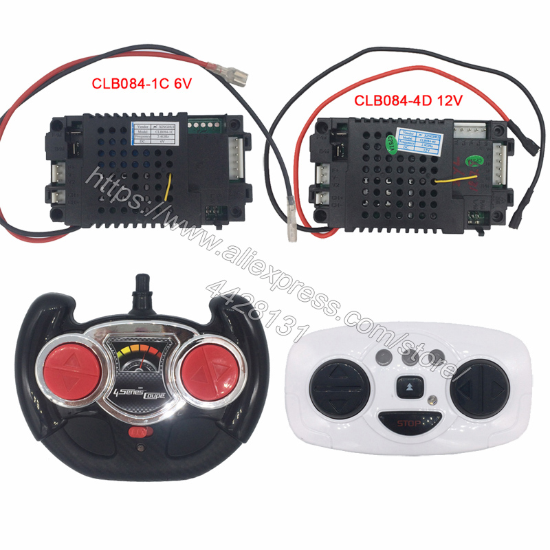 CLB084 4D children's electric car 2.4G remote control receiver controller,12V and 6V CLB transmitter for baby car-in Parts & Accessories from Toys & Hobbies
