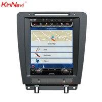 KiriNavi Vertical Screen Tesla Style 10.4 Inch Android 6.0 7.1 Car DVD Player For Ford Mustang Radio Gps Navigation 2010 2014