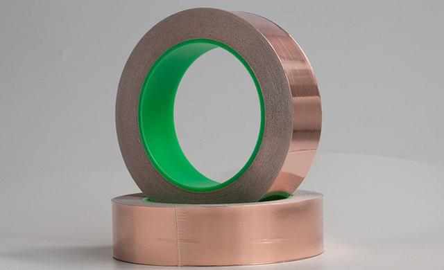 銅箔粘着テープ、帯電防止、金属導電性テープ、防水、放射線、幅 5 センチメートル金属補修材