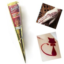 12Pcs/set Natural Dark Red Henna Tattoo Paste Cones Temporary Indian Mehndi For Women Hand Body Paint Tattoos