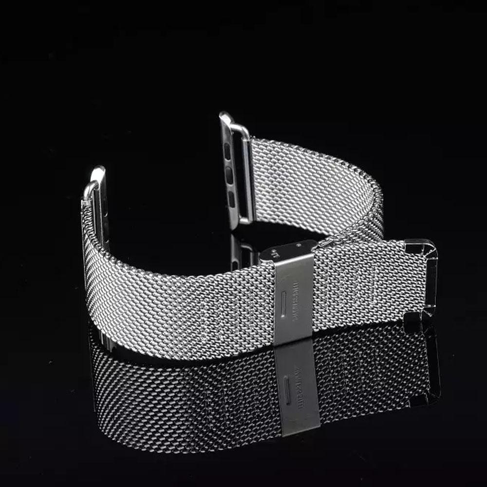 Prix pour 38mm 42mm En Acier Inoxydable Minnow Net Milanese Élégant En Métal Bande de Montre Bracelet Sangle pour Apple Watch Iwatch I39.