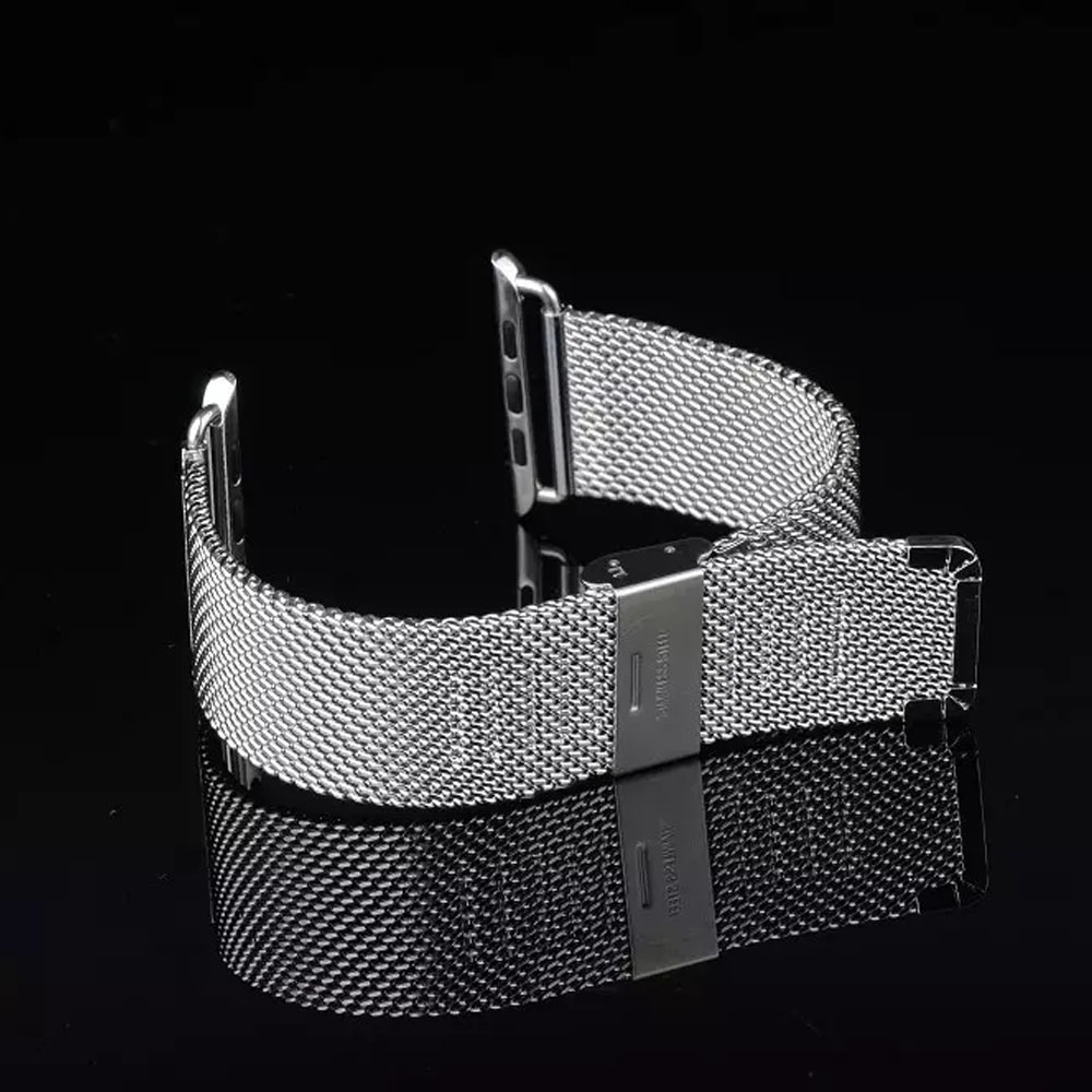 Stainless Steel Milanese Band for Apple Watch 38/40mm 42/44mm Series 1 2 3 4 Adjustable Buckle Strap Bracelet I39. stainless steel u shaped adjustable 4 hole shackle buckle for paracord bracelet silver 6 pcs