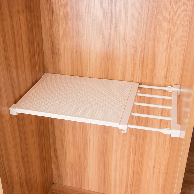 Telescopic Wardrobe Storage Rack Shelf Adjustable Kitchen Cabinet Storage Cabinet Cabinet Wardrobe Storage Rack Bathroom Rack