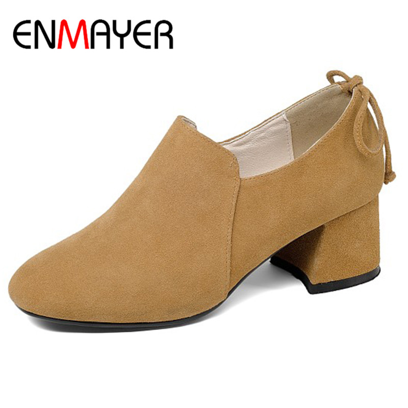 ENMAYER Zipper Shoes Woman High Heels Round Toe Genuine Leather Shoes Pumps Brown Black Shoes Large Size 34-41 Office LadiesENMAYER Zipper Shoes Woman High Heels Round Toe Genuine Leather Shoes Pumps Brown Black Shoes Large Size 34-41 Office Ladies
