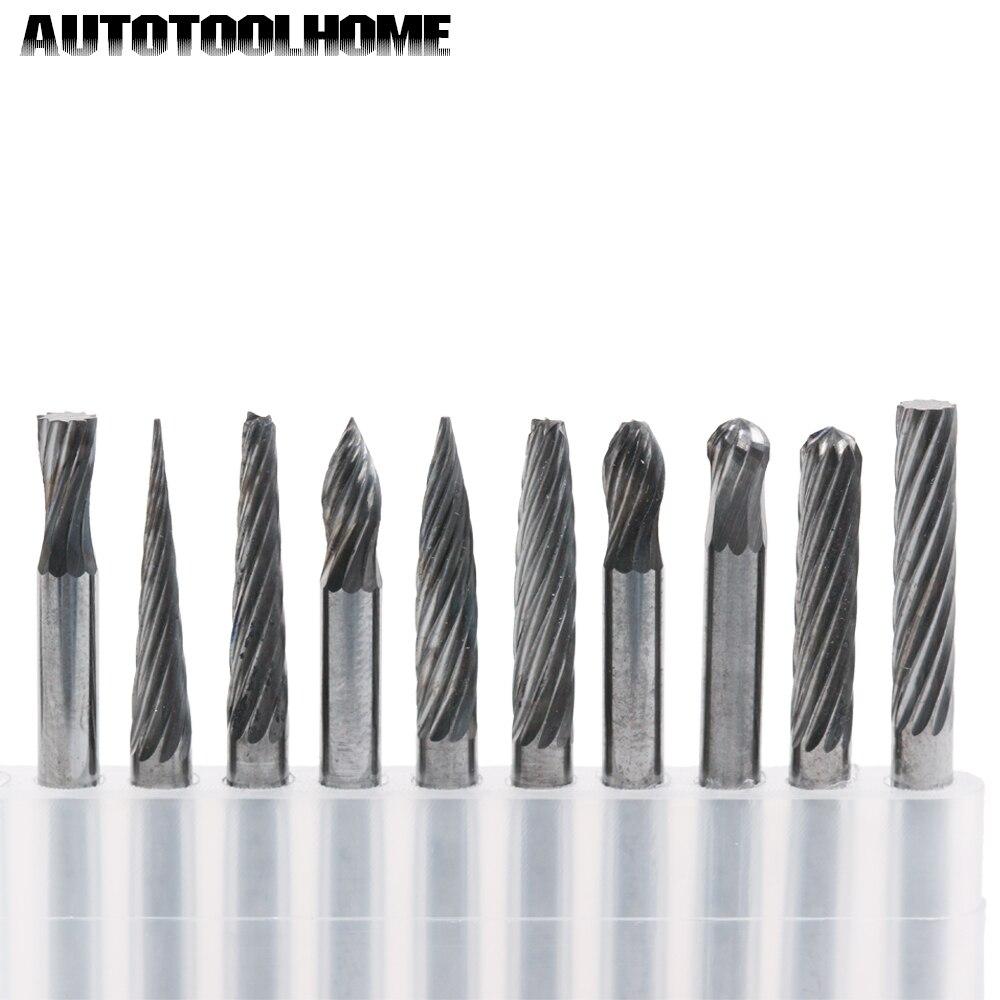"""die grinder burrs for metal grinding tools 1//8"""" 20-pc CARBIDE BURR BIT SET"""