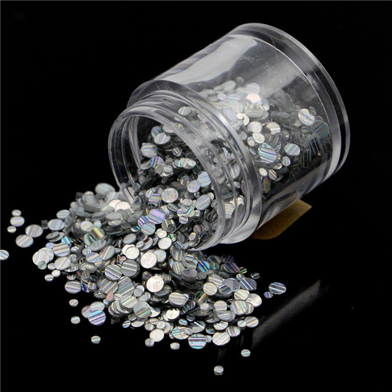 1kg 3mm Round dots Glitter Powder for Nail Polish or Gel selectable Glitter in Bulk Dot Glitter Silver/Gold loose wholesale 1 110 dot to dots