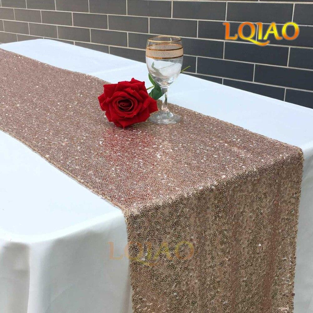 Champagne 30x180cm sequin table runner-02