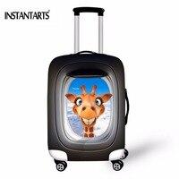 Instantarパーソナライズ動物スタイル旅行トロリースーツケース保護カバー用18-30インチケース弾