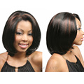 8inch Black mixed Brown wigs short haircuts Cheap Bob wigs for black women Pixie cut wigs  Natural length synthetic Hair  Peruca