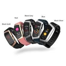 สร้อยข้อมือสมาร์ท E18 สร้อยข้อมือ Heart Rate Monitor ฟิตเนส Tracker Monitor ชีวิตกันน้ำกีฬานาฬิกาข้อมือสำหรับ Android IOS โทรศัพท์