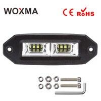 WOXMA LED Car Work Light Bar 4x4 Offroad 12V Motorcycle Work Led 40W 6000K White Spotlight Flood Driving Lamp for 4WD ATV SUV