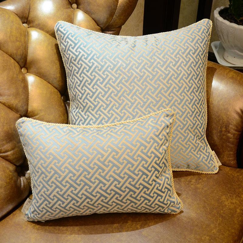 Elegant Sofa Pillows: European Luxury Elegant Geometry Sofa Decorative Throw