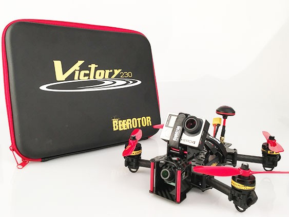 BeeRotor Victory 230 Mini Quadcopter FPV Racer ARF Multi-axis Camera Drone 500mW RTF Frame Kit Combo Fully Assembled VT230-2306
