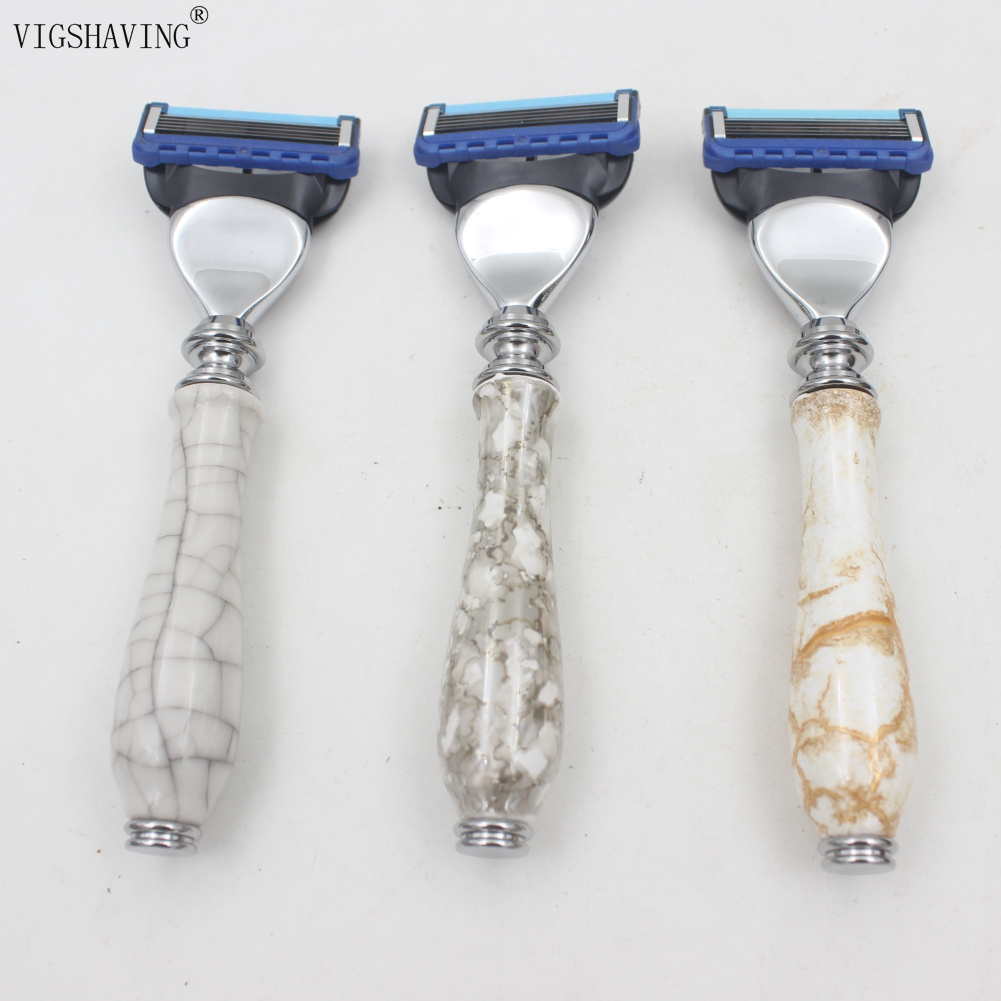 Presentes de Cerâmica Lidar com Lâmina de Barbear para Homens Navalha de Barbear Vigshaving