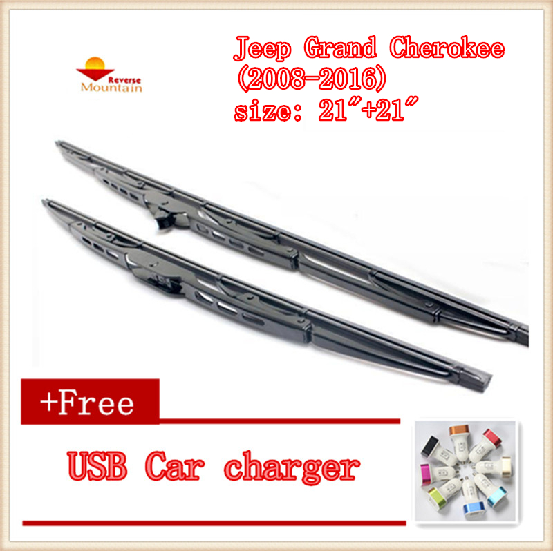 "2pcs/lot Car Windshield Wiper Blade U-type Universal For Jeep Grand Cherokee (2008-2016),size: 21""+21"""