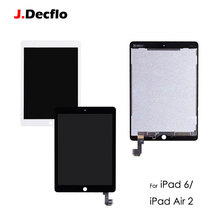купить LCD Dispaly Replacement For iPad Air 2 iPad 6 A1567 A1566 LCD Touch Screen Digitizer Assemble Orig Black / White дешево