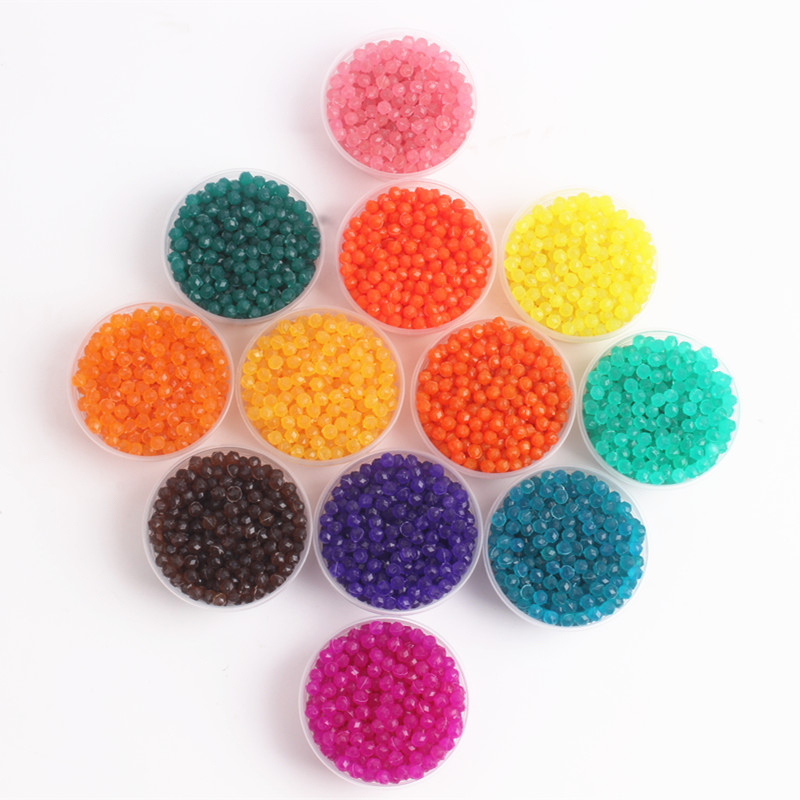 12 Colors Jewel Beads Toys For Children 3D Puzzle Educational Toys Water Sticky Beads Jigsaw Puzzle For Kids 100PCS/Bag Juguetes
