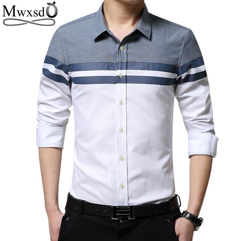 Mwxsd brand casual men shirt long sleeve slim fit oxford for Good mens dress shirts