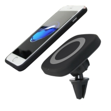 Get more info on the Wireless Car Charger Magnetic Holder QI Air Vent Stand 5V/1A Charging Mount for iPhone 8 X Samsung Galaxy S7 S8 Plus
