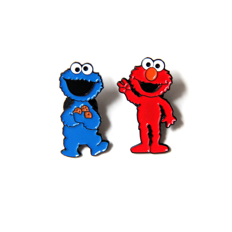 Pin On Cookie Monster: Sesame Street Brooches And Enamel Pins Cartoon Figure Elmo