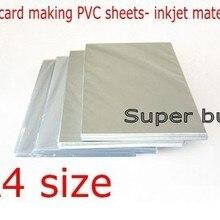 Материалы для изготовления ПВХ удостоверений личности, пустые листы для струйной печати, размер А4, 50 комплектов, белый цвет, толщина 0,76 мм