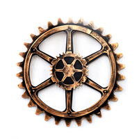 Retro Industrial Wind 60cm Gearwheel Wall Bar Art Office Wall Mural Decoration Creative Home Ornaments Decorative
