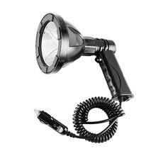 Reflector portátil 12V T6 foco LED para caza, camping, policía, pesca, luz de búsqueda de coche al aire libre 12V