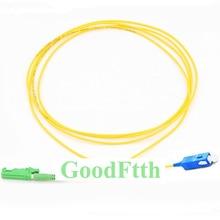 Волоконный патч корд Перемычка E2000/APC SC/UPC SM Simplex GoodFtth 20 50m