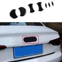 7x 100% Carbon Fiber Rear Logo Emblem Decorator Cover trim For Audi A4 B8 09 16 & A3 15 17 & A5 08 17 & A7 12 17 & A8 D4 11 17