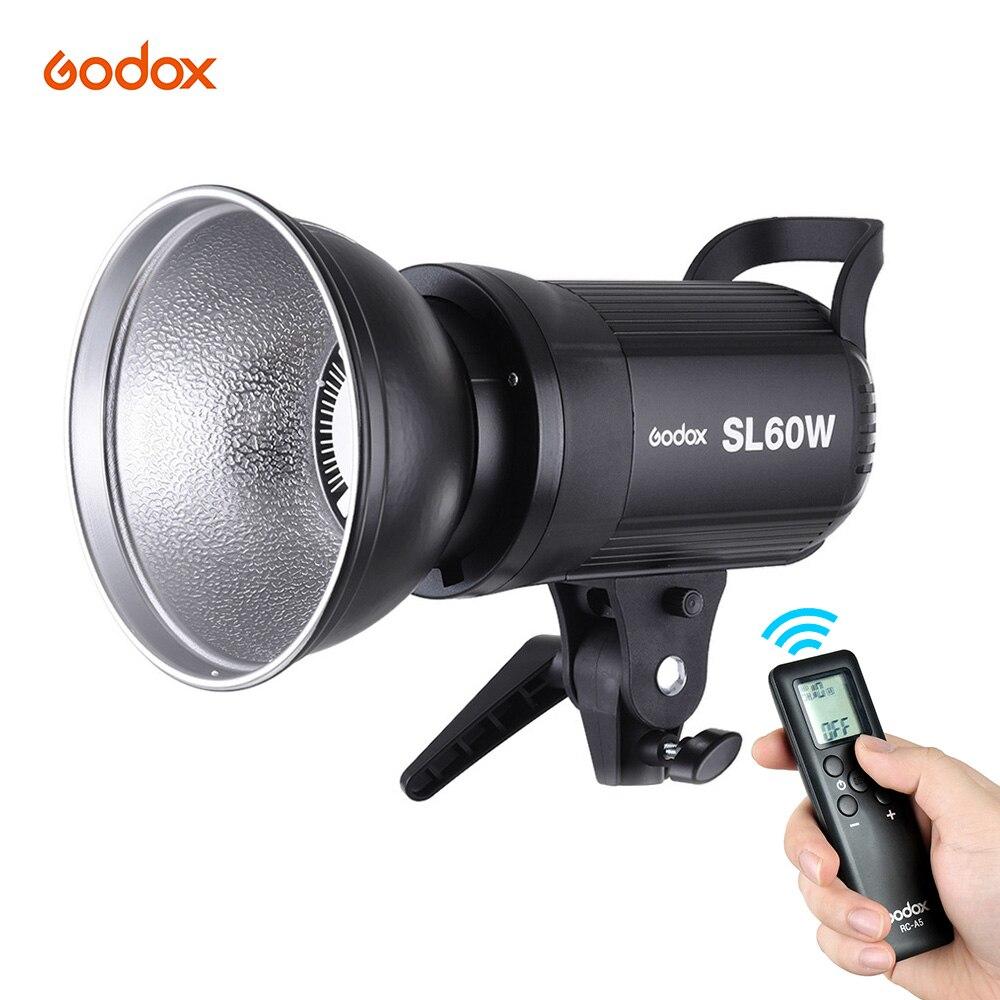 bilder für Godox SL-60W Led-videoleuchte Fotografie Beleuchtung + Weiß 5600 Karat 60 Watt Bowens Berg + Fernbedienung + Reflektor