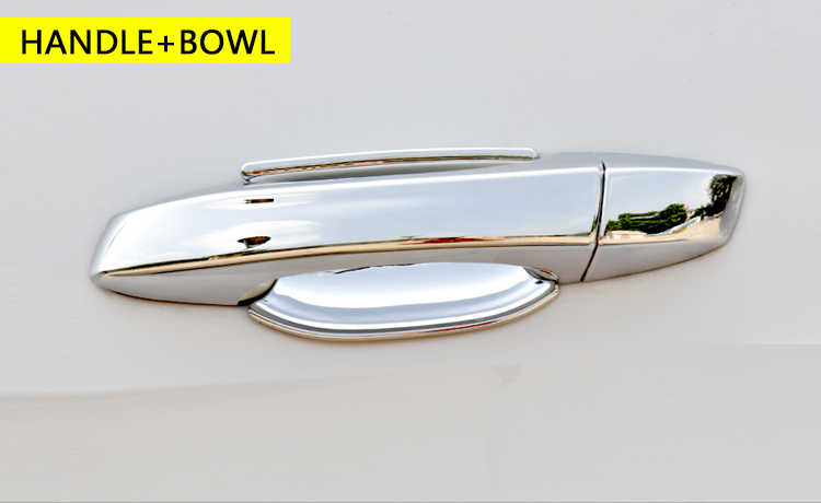 ل سيات ليون MK3 2013-2017 5F كروم مقابض باب يغطي اكسسوارات السيارات ملصقات السيارات التصميم 2014 2015 2016 Cupra ST FR FR +