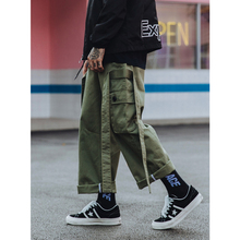 UNCLEDONJM Ribbons Multi Pocket Cargo Pants Loose Men's Tactical Pants Outdoor Sports Trousers Overalls Big Cargo Pants 363W цена