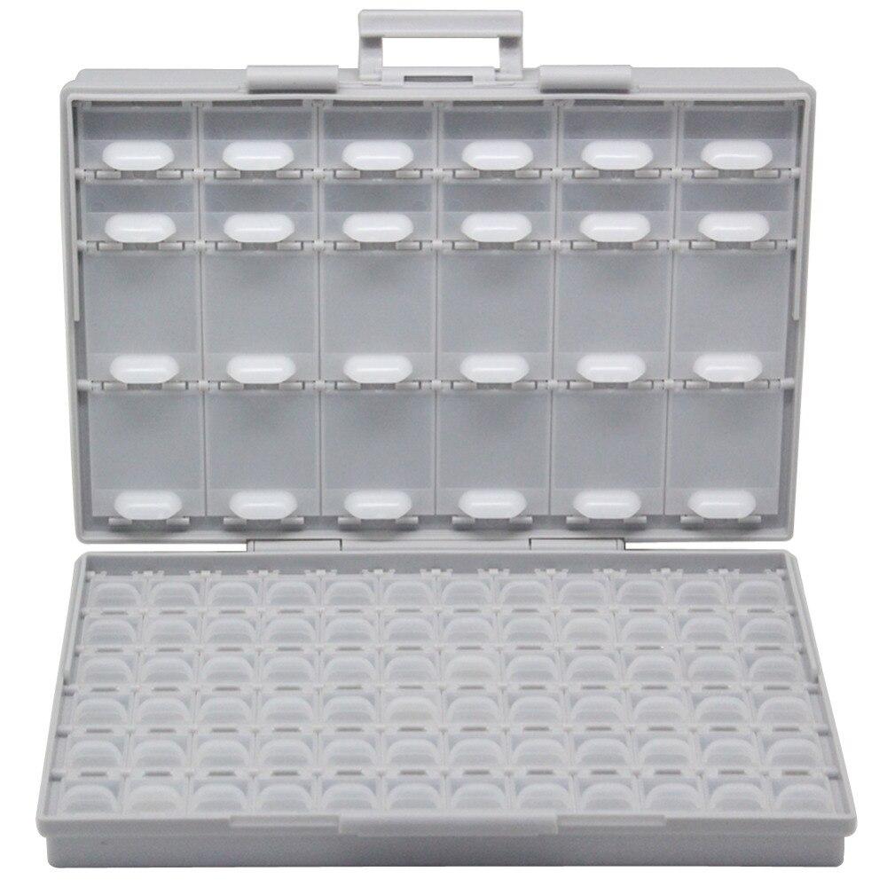 AidetekBOXALL96 deckel gehäuse SMD SMT teile Organizer Oberfläche Mount Box Labor Elektronik Speicher Fällen & Organisatoren BOXALL96