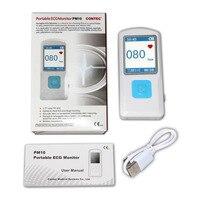 New FDA Handheld Portable ECG EKG Machine Heart Beat Monitor LCD USB Bluetooth PM10 CONTEC
