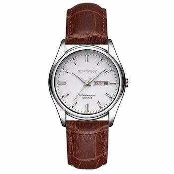 цена на 2020 Top Luxury Brand Men Women Watches Date Clock Leather Quartz Watch Male Clock Wrist Watch Relogio Masculino