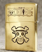 One Piece Luffy lighter Zippo Genuine copper double engraved with box