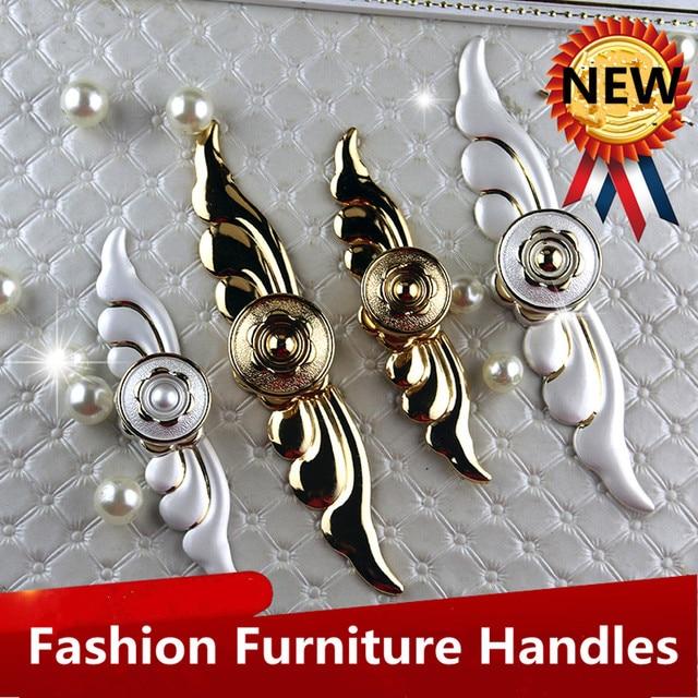 Moda simple moderna de oro y plata perillas con backplane pulls ...