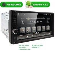 Octa Core 7 2 Din 2G RAM Android 7 1 Car DVD Radio Multimedia Player 1024