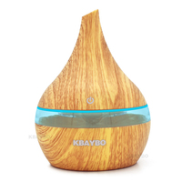 300ml Ultrasonic Aromatherapy Diffuser Wood Grain Ultrasonic Cool Mist Humidifier For Office Home Bedroom Living Room
