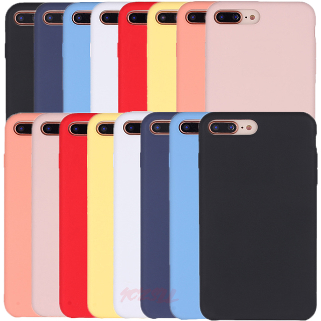 another chance 3f91b 026ac US $1.53 29% OFF|Have LOGO Original Silicone Case For iPhone X XR XS Max  Official Cover For iPhone 7 8 6S 6 Plus Phone Case For iPhone 5 5S Capa-in  ...