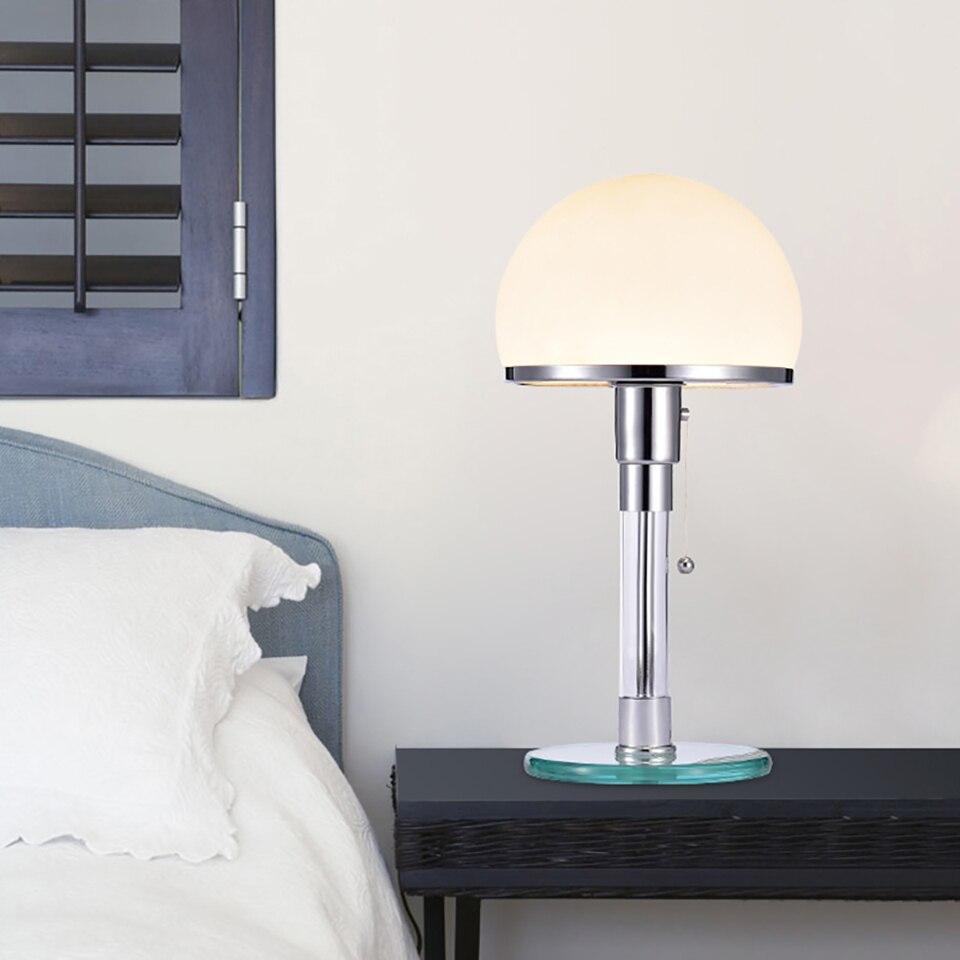 Modern Glass LED Table Light Bauhau Table Lamps Desk Lights Bedroom Study Lusters Glass LED Lamps Fixtures Bedside Lamp