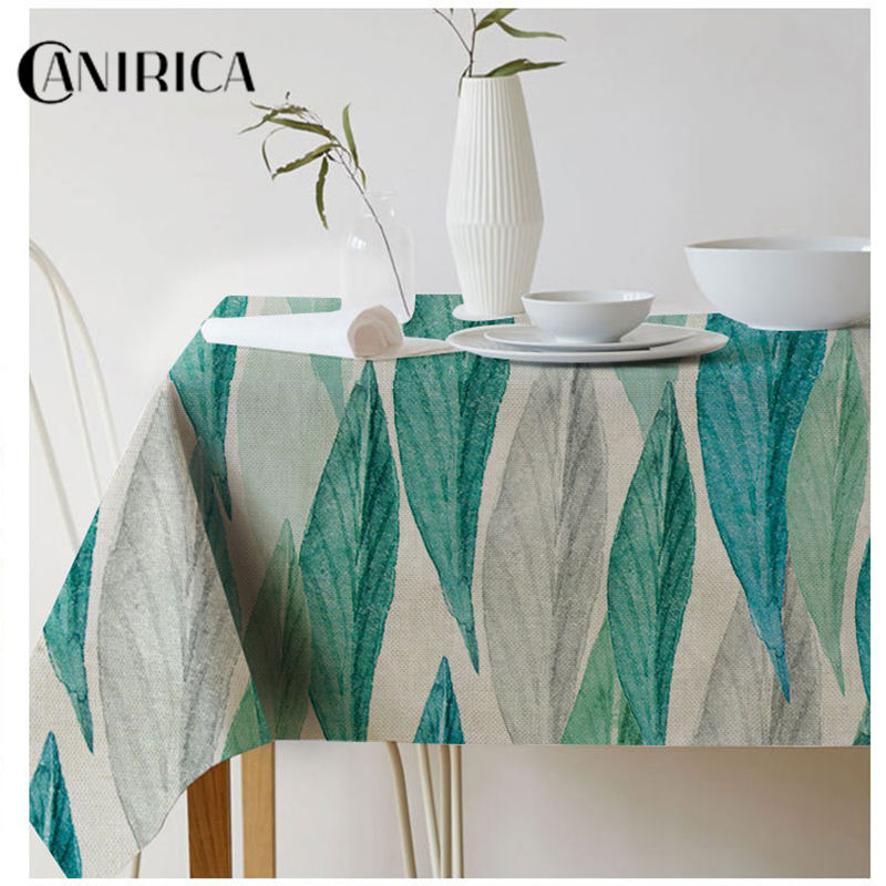 CANIRICA Tablecloth Rectangle Table Cloth Waterproof Cover For Home Kitchen Tropical Dressing Decor Tafelkleed Nordic