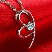 Solid 18K Gold 0.43ct Natural Diamond Pendant Necklace for Women – Free DHL Shipping