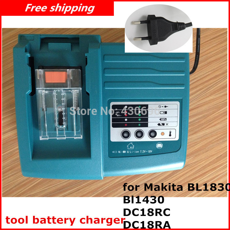 NEW Replacement Power tool battery charger for Makita BL1830 Bl1430 DC18RC DC18RA only for Lithuim ion