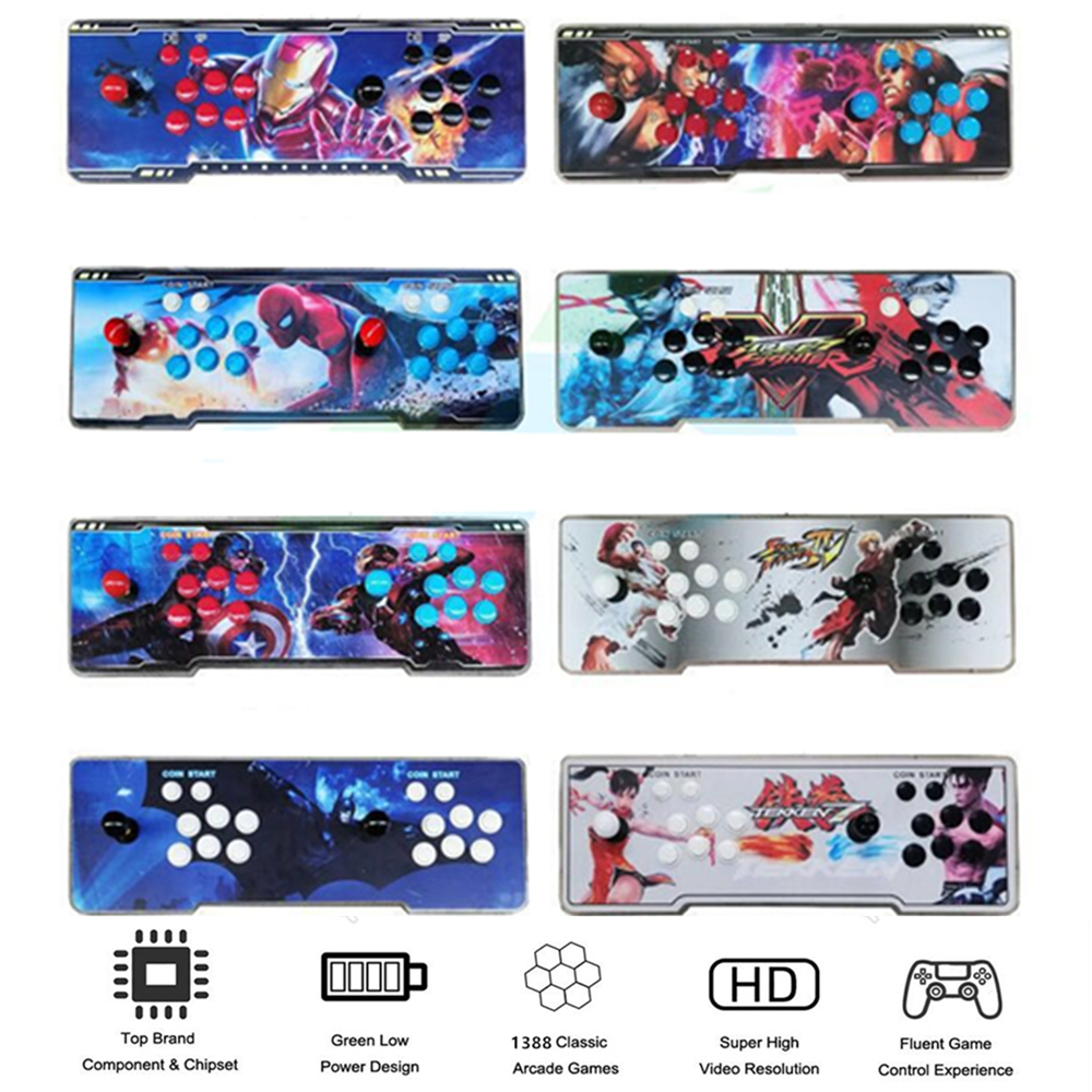 16 stickers to choose from Box 6 s 1388 in 1 Arcade console for PC TV PS3 Monitor HDMI VGA USB with Pandora Video Arcade machine dhl ems contec vga tpvga pc t e l s sg no 9984a isa pull from ipc pt m100 pc k c3 d9