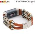 Сменные ремешки для часов Ремешок для Fitbit Charge 3 Band кожаный ремешок для Charge3 умный Браслет ремешок