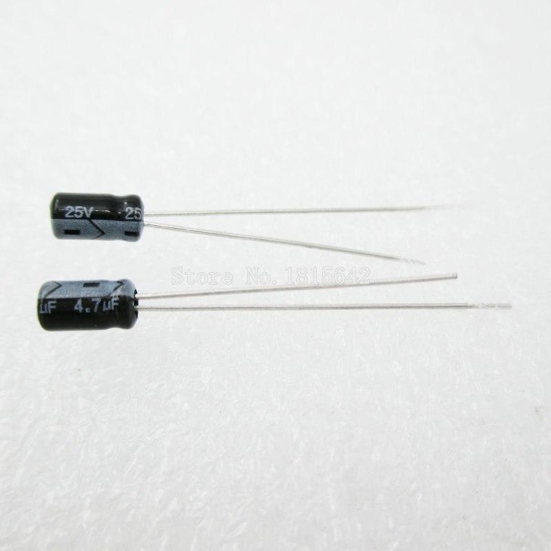 20PCS/LOT 4.7uF 25V Aluminum Electrolytic Capacitor 3*5 Electrolytic Capacitor 25v 4.7uf