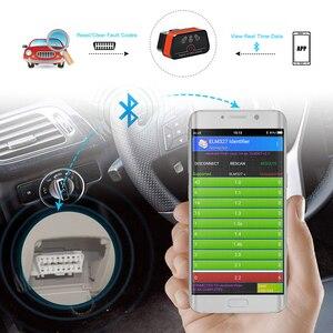Image 2 - Vgate iCar2 ELM327 Adaptador de diagnóstico OBD OBD2 para coche, herramienta automática de escáner Android, Bluetooth, Elm 327, 10 Uds., envío gratis