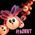 Novo coelho rosa coelho adorável Tailândia importação luzes A garotinha deliberadamente de aniversário 20 decoração da lâmpada